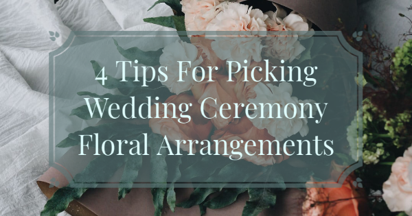 wedding ceremony floral arrangement